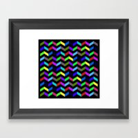 Funny Stripe Framed Art Print