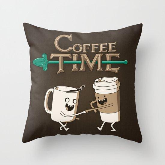 Coffee Time! Throw Pillow