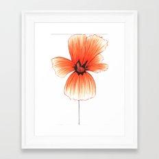Poppy!! Framed Art Print