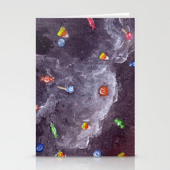 Candy Rain Stationery Card