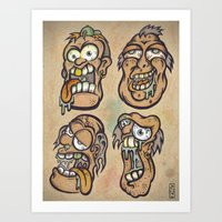 FOURHEADS ARE BETTER THA… Art Print