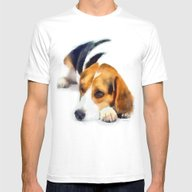 Beagle Bailey Mens Fitted Tee White SMALL