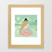 Sacred World: Blue Yogi Framed Art Print