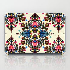 Bright Folk Art Pattern - hot pink, orange, blue & green iPad Case