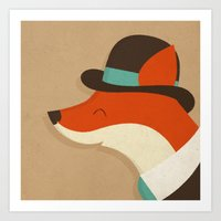 City Fox Art Print