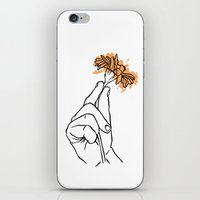 A Hand with a Flower iPhone & iPod Skin