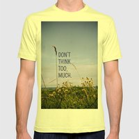 Travel Like A Bird Without a Care Mens Fitted Tee Lemon SMALL