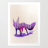 Twilight Fox Art Print