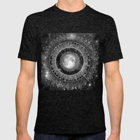 Major Tom (floating in my tin can, far above the Moon) Mens Fitted Tee Tri-Black SMALL