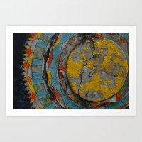 Crumbling Mandala Art Print