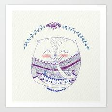 yummy cat Art Print