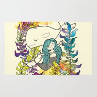 Mermaid and Whale  Rug