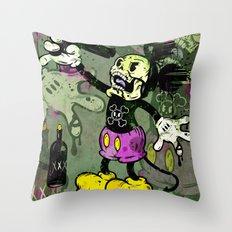Mick Skele Throw Pillow