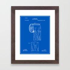 Toilet Paper Roll Patent - Blueprint Framed Art Print