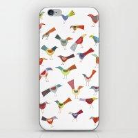Birds doing bird things iPhone & iPod Skin