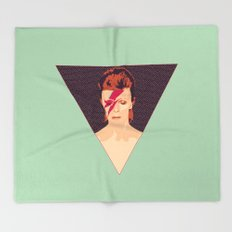 David Bowie/Aladdin Sane Throw Blanket