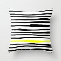 Neon zebra stripes Throw Pillow