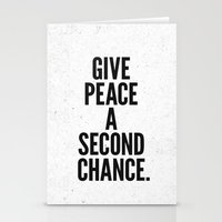 Give Peace A Second Chan… Stationery Cards
