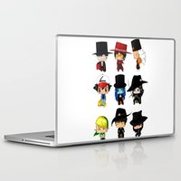 anime Laptop & iPad Skins featuring Anime Hatters by artwaste