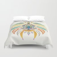 Whimsical Tribal Lion Duvet Cover