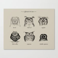 Caffeinated Owls Canvas Print