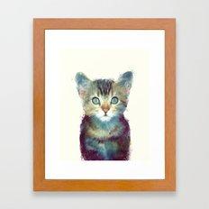 Cat // Aware Framed Art Print