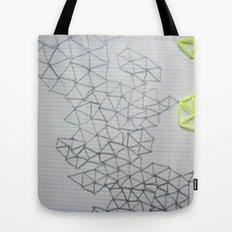Neon Geometric Tote Bag