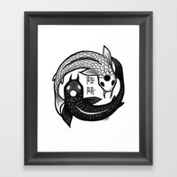 Balance Design Framed Art Print