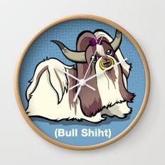 Bull Shiht Wall Clock