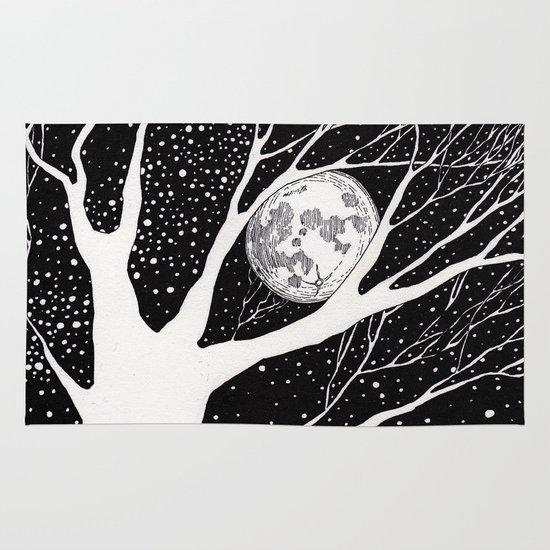 moonlight shadow Area & Throw Rug