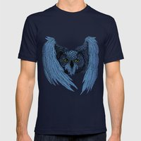 Night Owl Mens Fitted Tee Navy SMALL