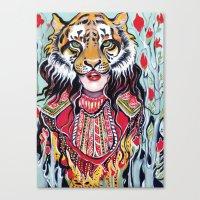 Tiger Woman Canvas Print