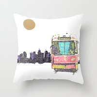505 Street Car Throw Pillow