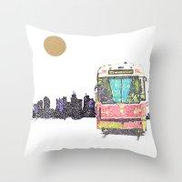 505 Street car Throw Pillow