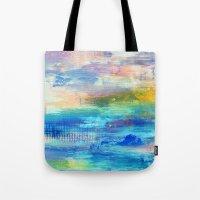 Dawn - Textured Abstract Art Tote Bag