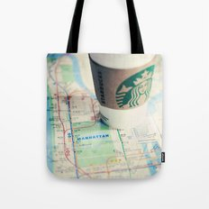 Manhattan and Starbucks Tote Bag