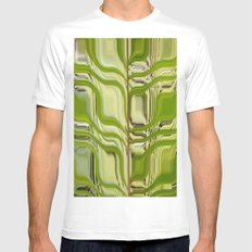 Abstract Germination SMALL White Mens Fitted Tee