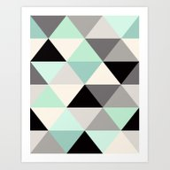 Art Print featuring Triangle Geometric Patte… by Crystal ★ Walen