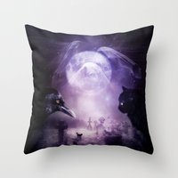 In The Glow Of Darkness … Throw Pillow