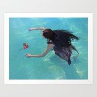 Water Nymph  Art Print