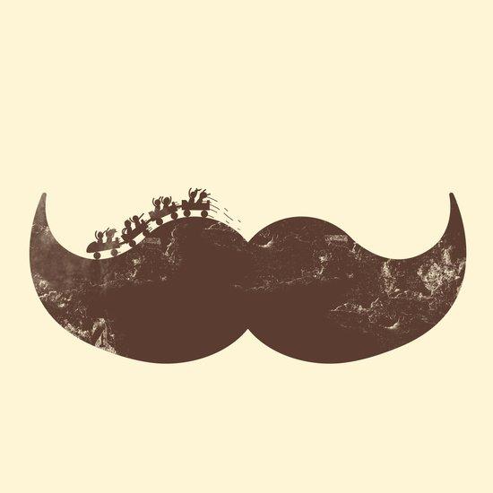 Mustache Ride Art Print