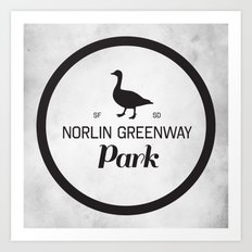Norlin Greenway Park Art Print