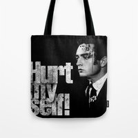 hurt my self! Tote Bag