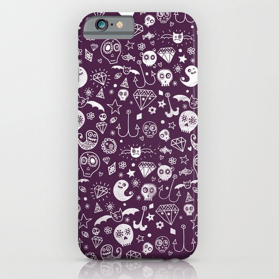 Day of the dead - Purple iPhone & iPod Case