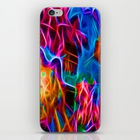 Abstract Electrified iPhone & iPod Skin