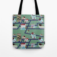 Little Town Pattern Tote Bag