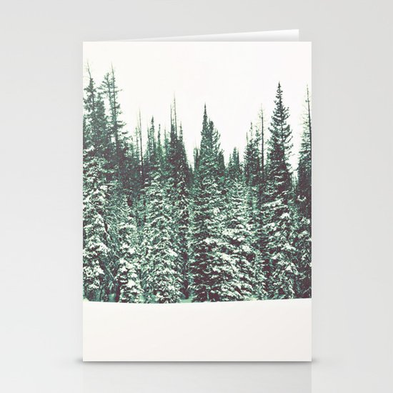 Snow on the Pines Stationery Card
