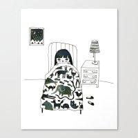 Animal Fear Canvas Print