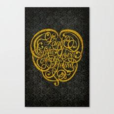 Light of the Love version 2 Canvas Print