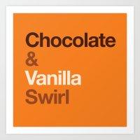 Chocolate & Vanilla Swir… Art Print